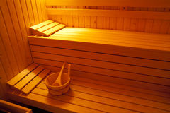 Sauna room. Relaxing at home Royalty Free Stock Photo
