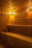 Sauna room Stock Image