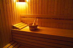 Sauna room Stock Photography