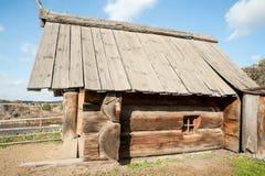 Sauna russe de grands rondins Images stock