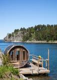 Sauna in Schweden. Stockbild