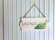 Sauna sign Stock Images