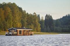 Sauna and spa cruise, Jyvaskyla area. Finland traditional lifest. Yle. Horizontal Stock Photo