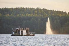Sauna and spa cruise, Jyvaskyla area. Finland traditional lifest. Yle. Horizontal Stock Photography