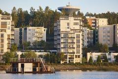Sauna and spa cruise, Jyvaskyla city. Finland traditional lifest. Yle. Horizontal Stock Image