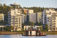Sauna and spa cruise, Jyvaskyla city. Finland traditional lifest. Yle. Horizontal Royalty Free Stock Photos