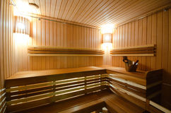 Sauna spa salon. Interior relaxation Royalty Free Stock Images
