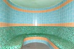 Sauna in STAZIONE TERMALE alla stazione sciistica Immagini Stock Libere da Diritti