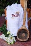Sauna still-life Royalty Free Stock Images