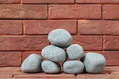 Sauna stones. Royalty Free Stock Photo