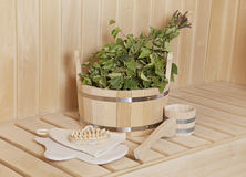 Sauna stuff royalty free stock photo