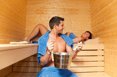 Sauna sweat treatment Royalty Free Stock Photos