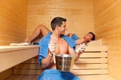 Sauna sweat treatment royalty free stock photos