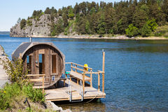 Sauna in Sweden. Royalty Free Stock Images