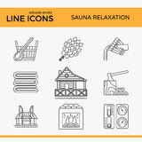 Sauna Theme Icon Set Royalty Free Stock Image