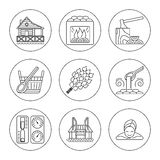 Sauna Theme Icon Set Stock Photos