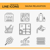 Sauna Theme Icon Set Royalty Free Stock Photography