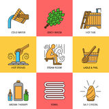 Sauna Theme Icon Set Royalty Free Stock Photo