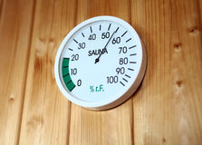 SAUNA THERMOMETER Royalty Free Stock Photos