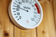 SAUNA THERMOMETER Royalty Free Stock Images