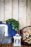 Sauna time Stock Images