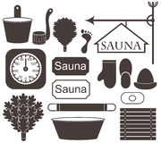 Sauna. Vector illustration (EPS 10 Royalty Free Stock Images