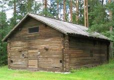 Sauna velha foto de stock