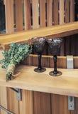 Sauna wciąż życie z wina szkłem Zdjęcia Stock