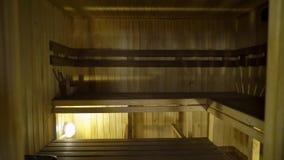 Sauna wnętrze - Relaksuje w gorącym sauna zbiory