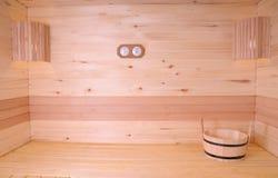 Sauna wnętrze Fotografia Royalty Free