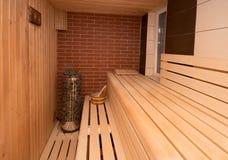Sauna wnętrze Fotografia Stock