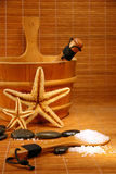 Sauna y tratamiento del balneario Foto de archivo libre de regalías