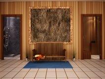 Saunainnenraum Stockfoto