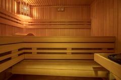 Saunarauminnenraum lizenzfreie stockbilder