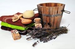 Saunawellneßlavendel Lizenzfreies Stockfoto