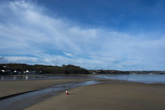 Saunderfoot Harbour and beach South Wales Pembrokeshire Royalty Free Stock Photography