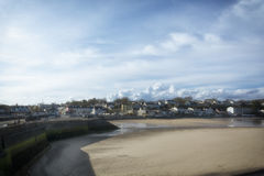 Saunderfoot Harbour and beach South Wales Pembrokeshire Royalty Free Stock Photo