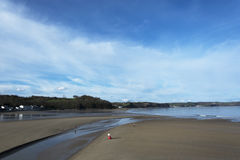 Saunderfoot Harbour and beach South Wales Pembrokeshire Stock Photos