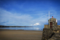 Saunderfoot Harbour and beach South Wales Pembrokeshire Stock Photography