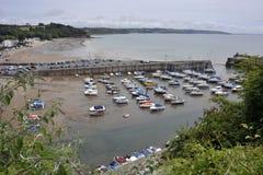 Saundersfoothaven in Pembrokeshire, Wales Stock Afbeelding