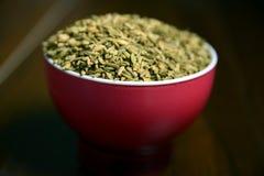 Saunf ou sementes de erva-doce Roasted em uma bacia, foco seletivo fotos de stock