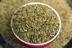 Saunf ou sementes de erva-doce Roasted em uma bacia, foco seletivo foto de stock