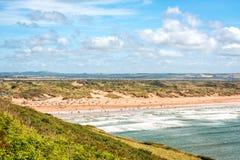 Saunton enarena la playa Imagen de archivo libre de regalías
