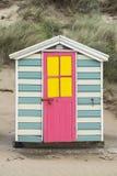 Saunton lixa cabanas da praia Imagem de Stock Royalty Free