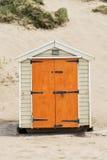 Saunton piasków Plażowe budy Fotografia Stock