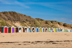 Saunton Sands Beach Huts Devon England UK royalty free stock images