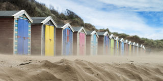 Saunton Sands Beach Huts. Beach Huts at Saunton Sands, Devon, UK Stock Image