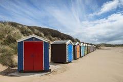 Saunton Sands Beach Huts Stock Image