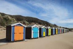 Saunton Sands Beach Huts. Beach Huts at Saunton Sands, Devon, UK Stock Photos