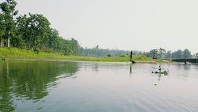 Sauraha flod Nepal Royaltyfri Foto